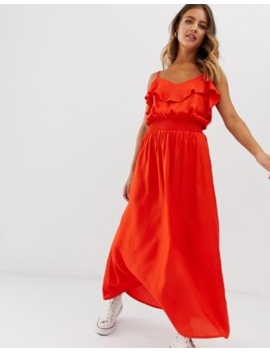 Pimkie Maxi Dress With Frill In Red by Pimkie