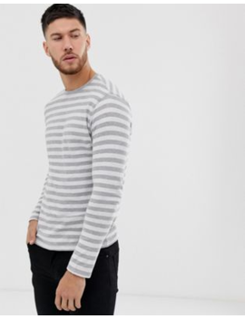 Only &Amp; Sons Striped Long Sleeve T Shirt by Only & Sons