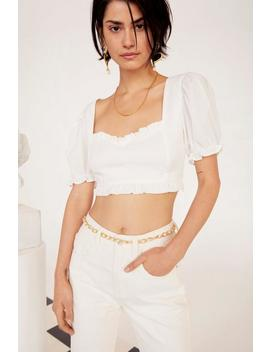 Emrata Cup Nothing Linen Crop Top by Nasty Gal