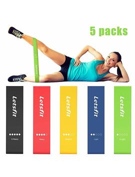 """Letsfit Resistance Loop Bands, Resistance Exercise Bands For Home Fitness, Crossfit, Stretching, Strength Training, Physical Therapy, Natural Latex Workout Bands, Pilates Flexbands, 12\"""" X 2\ by Letsfit"""