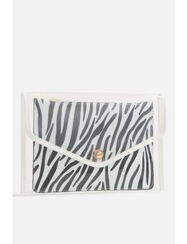 **Zebra Clear Clutch Bag By Koko Couture by Topshop