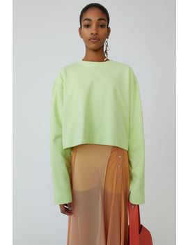 Cropped Sweatshirt Lime Green by Acne Studios