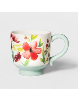 16.6oz Corinna Stoneware Floral Mug   Threshold by Threshold