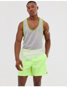 Adidas Swim Shorts In Green by Adidas