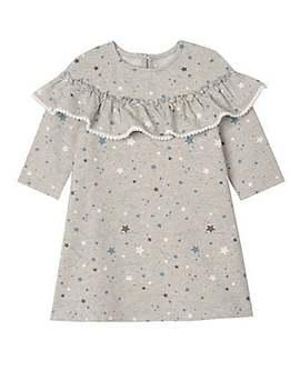 Little Girl's Star Print Ruffle Dress by Pippa & Julie