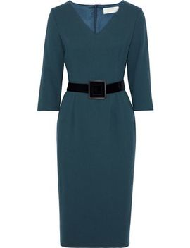 Belted Wool Crepe Dress by Goat