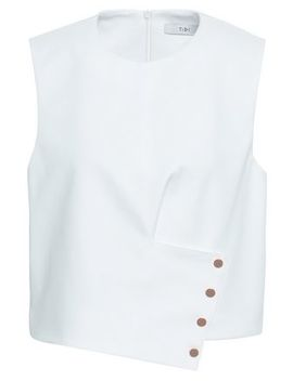 Button Embellished Cady Top by Tibi