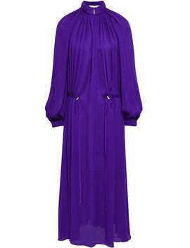 Gathered Crepe Midi Dress by Tibi