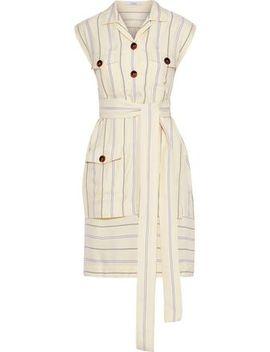 Layered Striped Jacquard Mini Shirt Dress by Derek Lam 10 Crosby