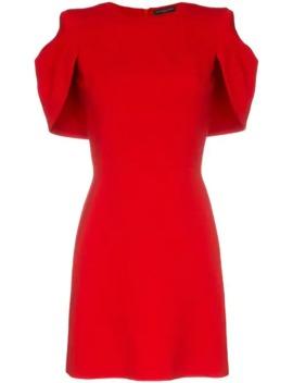 Cape Silk Mini Dress by Alexander Mc Queen