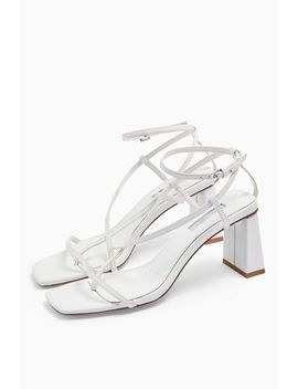 Nico White Set Back Heels by Topshop