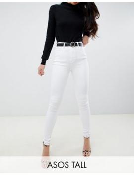 Asos Design Tall – Ridley – Vita Skinny Jeans Med Hög Midja by Asos Design