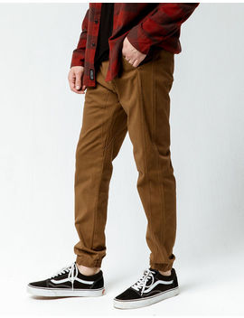 Charles And A Half Saddle Mens Twill Jogger Pants by Charles And A Half