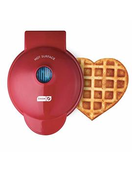 Dash Dmw001 Hr Mini Heart Maker Waffle Iron, Shaped Goodness, Red by Dash