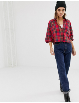 Levi's Cropped Selah Shirt In Check by Levi's
