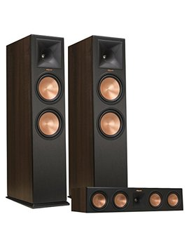 Klipsch Rp 280 F Reference Premiere Floorstanding Speaker Pair With Rp 450 C Reference Premiere Center Channel Speaker (Walnut) by Klipsch