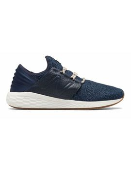 New Balance Men's Fresh Foam Cruz V2 Brooklyn Half Shoes Navy And White by New Balance