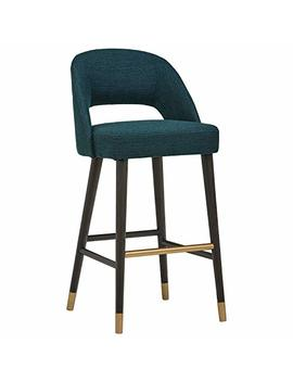 Rivet Whit Contemporary Kitchen Counter Bar Stool 41 Inch Height, Juniper Blue by Rivet