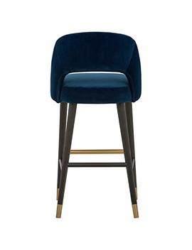 "Rivet Whit Contemporary Barstool 41""H, Ink by Rivet"