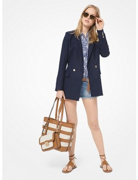 Washed Linen Blazer by Michael Michael Kors