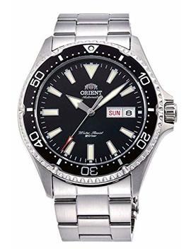 Orient Ra Aa0001 B Men's Kamasu Stainless Steel Black Bezel Black Dial Automatic Dive Watch by Orient