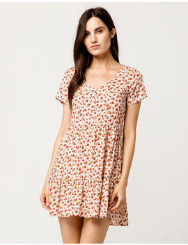 Sky And Sparrow Ditsy Floral Babydoll Dress by Sky And Sparrow