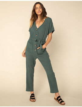 West Of Melrose Armed With Charm Green Womens Jumpsuit by West Of Melrose