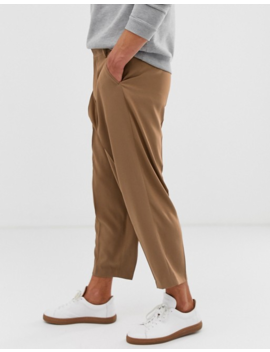 Noak Wide Leg Suit Pants In Camel by Noak