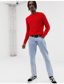 Pull&Amp;Bear Ribbed Sweater In Red by Pull&Bear
