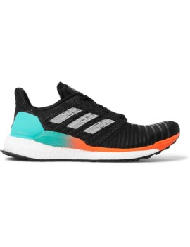 Solar Boost Rubber Trimmed Mesh Running Sneakers by Adidas Sport