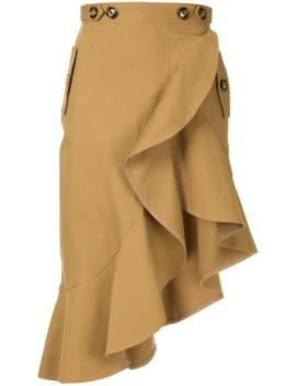 Ruffled Asymmetric Skirt by Self Portrait