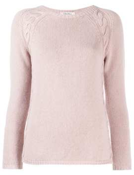 Cable Knit Trim Jumper by 's Max Mara