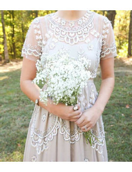 Bhldn Needle & Thread Tiered Petal Dress Gown Size Us 0 $450 by Needle & Thread