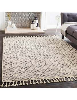 Laci Moroccan Patterned Tassel Area Rug by Generic