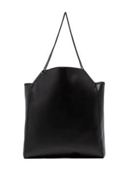 Black Falabella Chain Tote Bag by Stella Mc Cartney