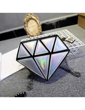 Holographic Women Shoulder Bag Diamond Shape Laser Hologram Handbag Purse Clutch by Ebay Seller