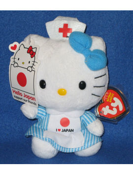 Ty Beanie Baby Babies Hello Kitty I Love Japan W/Tag Red Cross Nurse Plush by Ty