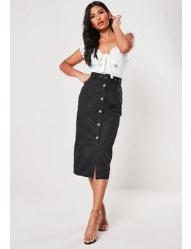 black-belt-detail-button-through-midi-skirt by missguided