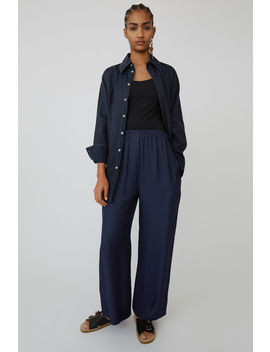Wide Legged Trousers Navy Blue by Acne Studios