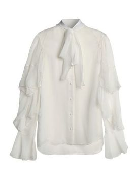 Pussy Bow Ruffled Silk Georgette Top by ChloÉ