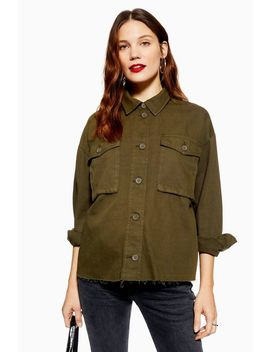 **Maternity Utility Shacket by Topshop
