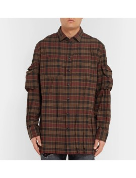 Distressed Checked Cotton Shirt by Blackmeans