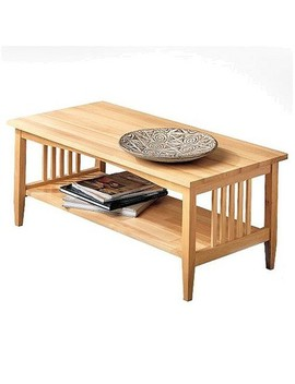 Mission Natural Coffee Table   Linon by Linon