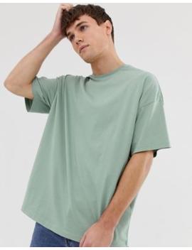 Camisa Extragrande Con Cuello Redondo En Verde De Asos Design by Asos Design