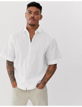 Camisa Blanca De Corte Cuadrado Y Holgado De Asos Design by Asos Design