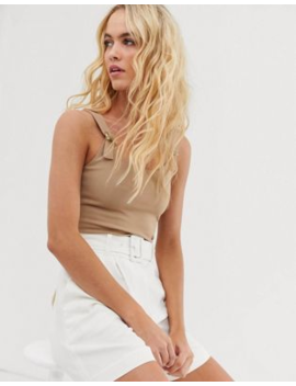 &Amp;Amp; Other Stories   Tanktop Met Gespen In Beige by &Amp; Other Stories