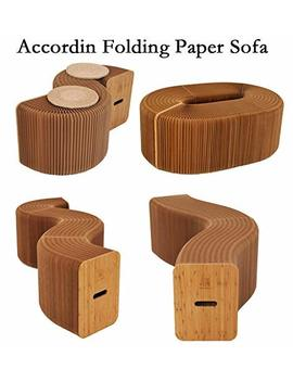 Alien Tech Home Furniture Softeating Modern Design Accordin Folding Paper Stool Sofa Chair Kraft Paper Relaxing Foot Stool Fashion Paper Design, Ideal School, Kitchen,Living & Dining Room by Ihpaper