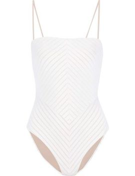 Paola Cutout Striped Swimsuit by Skin