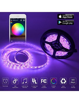 Cetim Wifi Wireless Smart Phone Controlled Led Strip Light Kit, 16.4ft Waterproof Flexible Smd 5050 Rgb 300 Le Ds Strip Lights ,Working With Android And Ios System,Alexa by Cetim