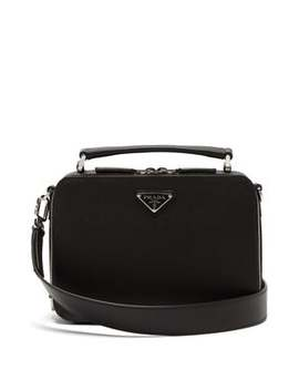 Brique Saffiano Leather Cross Body Bag by Prada